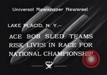 Image of Bobsled Lake Placid New York USA, 1934, second 4 stock footage video 65675041268