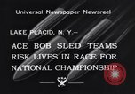 Image of Bobsled Lake Placid New York USA, 1934, second 5 stock footage video 65675041268