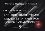 Image of Bobsled Lake Placid New York USA, 1934, second 7 stock footage video 65675041268