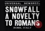 Image of Snow fall Rome Italy, 1935, second 2 stock footage video 65675041271