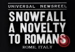 Image of Snow fall Rome Italy, 1935, second 7 stock footage video 65675041271
