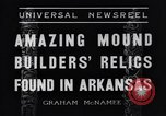 Image of Removal of ancient relics from Spiro mounds Arkansas United States USA, 1936, second 9 stock footage video 65675041281