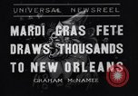 Image of Mardi Gras New Orleans Louisiana USA, 1936, second 1 stock footage video 65675041294