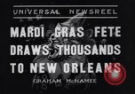 Image of Mardi Gras New Orleans Louisiana USA, 1936, second 2 stock footage video 65675041294