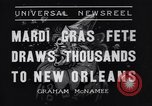 Image of Mardi Gras New Orleans Louisiana USA, 1936, second 4 stock footage video 65675041294