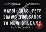 Image of Mardi Gras New Orleans Louisiana USA, 1936, second 5 stock footage video 65675041294