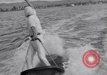 Image of surf board Balboa Newport Beach California USA, 1936, second 60 stock footage video 65675041295