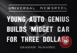 Image of small automobile Rockville Maryland United States USA, 1936, second 2 stock footage video 65675041301