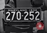 Image of small automobile Rockville Maryland United States USA, 1936, second 24 stock footage video 65675041301