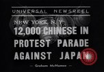 Image of Protest parade New York City USA, 1938, second 6 stock footage video 65675041309