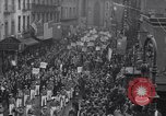 Image of Protest parade New York City USA, 1938, second 9 stock footage video 65675041309