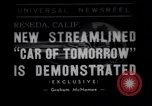 Image of modern streamlined concept car Reseda California USA, 1938, second 1 stock footage video 65675041316