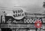 Image of Los Angeles Dodgers vs Tokyo Giants pre-season baseball game Vero Beach Florida USA, 1967, second 5 stock footage video 65675041326