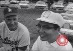 Image of Los Angeles Dodgers vs Tokyo Giants pre-season baseball game Vero Beach Florida USA, 1967, second 26 stock footage video 65675041326