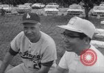 Image of Los Angeles Dodgers vs Tokyo Giants pre-season baseball game Vero Beach Florida USA, 1967, second 27 stock footage video 65675041326