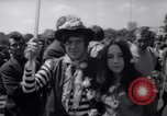 Image of Hippies at a demonstration London England United Kingdom, 1967, second 8 stock footage video 65675041331