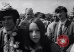 Image of Hippies at a demonstration London England United Kingdom, 1967, second 9 stock footage video 65675041331