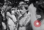 Image of Hippies at a demonstration London England United Kingdom, 1967, second 22 stock footage video 65675041331