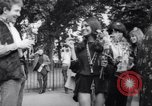 Image of Hippies at a demonstration London England United Kingdom, 1967, second 27 stock footage video 65675041331