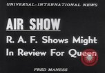 Image of Queen Elizabeth reviews RAF United Kingdom, 1953, second 14 stock footage video 65675041353