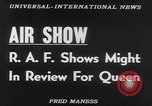 Image of Queen Elizabeth reviews RAF United Kingdom, 1953, second 16 stock footage video 65675041353