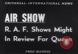 Image of Queen Elizabeth reviews RAF United Kingdom, 1953, second 17 stock footage video 65675041353