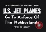 Image of jet fighters Netherlands, 1955, second 18 stock footage video 65675041362
