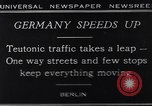 Image of One way streets Germany, 1929, second 1 stock footage video 65675041389