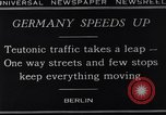 Image of One way streets Germany, 1929, second 12 stock footage video 65675041389
