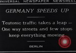 Image of One way streets Germany, 1929, second 13 stock footage video 65675041389