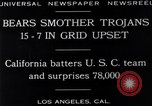 Image of football match Los Angeles California USA, 1929, second 2 stock footage video 65675041392