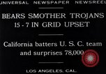Image of football match Los Angeles California USA, 1929, second 3 stock footage video 65675041392