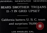 Image of football match Los Angeles California USA, 1929, second 7 stock footage video 65675041392