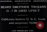 Image of football match Los Angeles California USA, 1929, second 11 stock footage video 65675041392
