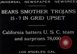 Image of football match Los Angeles California USA, 1929, second 15 stock footage video 65675041392