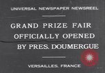 Image of President Doumergue Versailles France, 1931, second 1 stock footage video 65675041401