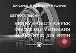 Image of unemployed veteran soldiers Detroit Michigan USA, 1933, second 2 stock footage video 65675041405