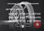 Image of unemployed veteran soldiers Detroit Michigan USA, 1933, second 3 stock footage video 65675041405