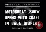 Image of Motor Boat Show New York City USA, 1937, second 1 stock footage video 65675041418