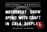 Image of Motor Boat Show New York City USA, 1937, second 3 stock footage video 65675041418