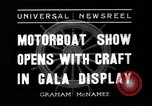 Image of Motor Boat Show New York City USA, 1937, second 6 stock footage video 65675041418