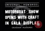 Image of Motor Boat Show New York City USA, 1937, second 7 stock footage video 65675041418
