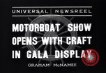 Image of Motor Boat Show New York City USA, 1937, second 9 stock footage video 65675041418
