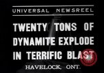 Image of dynamite Havelock Ontario Canada, 1937, second 2 stock footage video 65675041428
