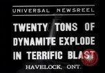 Image of dynamite Havelock Ontario Canada, 1937, second 3 stock footage video 65675041428