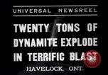 Image of dynamite Havelock Ontario Canada, 1937, second 7 stock footage video 65675041428