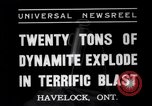 Image of dynamite Havelock Ontario Canada, 1937, second 8 stock footage video 65675041428