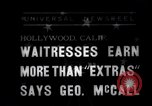 Image of waitresses Hollywood Los Angeles California USA, 1938, second 1 stock footage video 65675041435