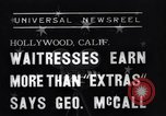 Image of waitresses Hollywood Los Angeles California USA, 1938, second 3 stock footage video 65675041435