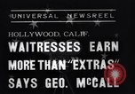 Image of waitresses Hollywood Los Angeles California USA, 1938, second 6 stock footage video 65675041435